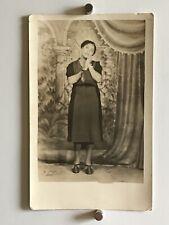 Americana African American Woman Posing Sweet Photo Black White 1916 WW1 W15