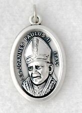 POPE HOLY FATHER ST JOHN PAUL II Catholic medal charm oxidized silver nickel NEW
