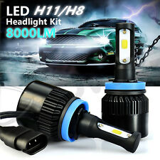 JDM ASTAR COB H11 H8 White 68W 8000LM LED Headlight Kit Hi/Low Power Bulbs 6500K