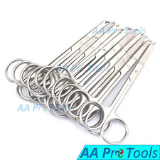 """AA Pro: Pack 10Pc Spencer Stitch Scissors 4.5"""" Delicate With Suture Removal Hook"""