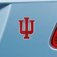 Indiana Hoosiers Heavy Duty Metal 3-D Color Auto Emblem