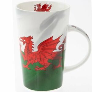 Wales Latte Mug Welsh Flag Dragon Cup Cymru Fine China Gift Tea Coffee Boxed NEW