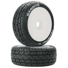 NEW Duratrax Bandito 1/8 Buggy Tire C3 Mounted White (2) DTXC3639