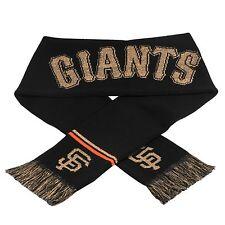 San Francisco Giants Scarf Knit Winter Neck NEW NCAA Metallic Thread Gold Logo