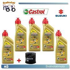 TAGLIANDO FILTRO OLIO + 5LT CASTROL POWER 1 20W50 SUZUKI VS INTRUDER 1400 1998