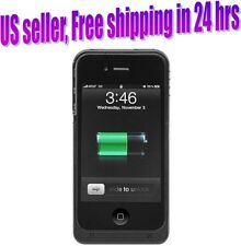 iPhone 4 4s External Battery Case Lithium 1900mAh Thinner Than Leading Case, B&W