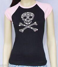 T-Shirt femme MC SKULLS - Taille L - Style BIKER HARLEY