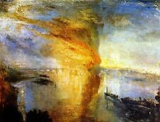 Burning of the Houses of Parliament by Joseph Turner Canvas Giclee Poster Print