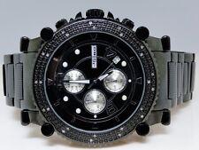 NEW MENS JOJO/JOJINO/JOE RODEO BLACK METAL GENUINE REAL 25 DIAMOND WATCH