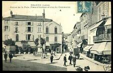 42  ROANNE place d'armes et ru de commerce   1910  (7)