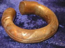 ANCIEN BRACELET D'ESCLAVE EN BRONZE/PROBABLEMENT AFRICAIN