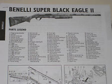 BENELI SUPER BLACK EAGLE II SHOTGUN EXPLODED VIEW
