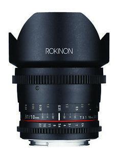 Rokinon 10mm T3.1 Ultra Wide Angle Lens (Nikon F)