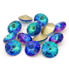 2017new 20pcs blue XILION ELEMENTS Crystal glass Rivoli loose Beads 12mm DIY