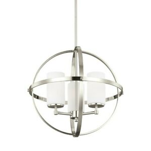 Sea Gull Lighting Alturas 3 Light Chandelier, Brushed Nickel - 3124603EN3-962