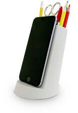 j-me Lean Desk Tidy Organiser iPhone Phone iPad Tablet Pen Pencil Holder Grey