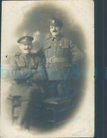 WW1 South wales borderers & Machine Gun Corps Soldiers studio photo