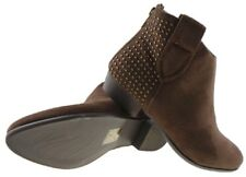 Ladies M Paz Brown Tan Faux Suede Chelsea Cowboy Ankle Boot Sizes UK 3 - UK 8