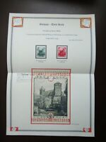 Germany Nazi 1934 Stamps Swastika Sun Nuremberg Castle WWII Third Reich German D