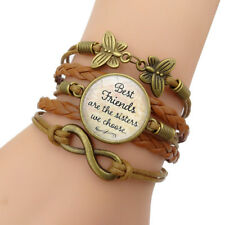 1 set of multi-layer leather adjustable retro Bohemian style beaded bracelet HOT