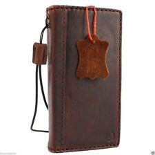 genuine vintage leather case for iphone 5s 5c stand book wallet credit cards new