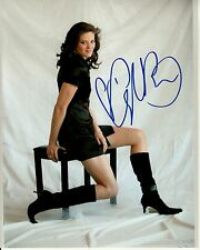 AYLA BROWN hand-signed HOT LEGS 8x10 w/ uacc rd coa SEXY IN BLACK DRESS & BOOTS