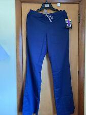 Nwt Ladies Wonder Wink Navy Style 502X Scrub PantsSz Small Tall Flare Leg Drwstg