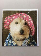 Noel Tatt Funny Blank Inside Greeting Cards Animals & Nature - Cute Dog In Hat