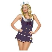 Leg Avenue Shipmate/Sailor Uniform Fancy Dress Costume Navy UK S/M Size 8-10.