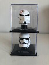 2x DeAgostini Star Wars Miniature 1:5 Helmet - First Order Stormtrooper & Neyo
