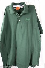 Jeep Hunter Green Polo Rugby Pull Over Dealer Shirt Men's L