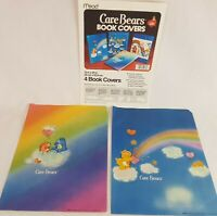 """2x Vintage Care Bear Design Book Covers Posters 13""""x20"""" Kids School Lined Paper"""