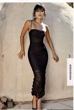 Celeb Boutique Fornarina Dress - Medium Black Organza Mesh Maxi