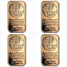 4 x 1 Once AVDP cuivre pur 999 / 4 x WALKING LIBERTY 1 Oz AVDP 999 copper bar