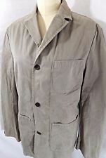 COAT~Timberland~3 BUTTON TAUPE COTTON JACKET~FULL ZIP w/POCKETS UNISEX 46B 44W