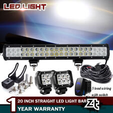 "20"" LED Light Bull Bar Combo+Wiring Kit For Toyota 4Runner Tacoma RAV4 1990-2018"