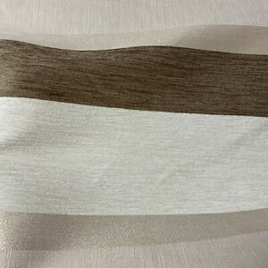 Cappuccino Horizontal Stripe Textured Curtain Fabric Material 137cm wide BR407