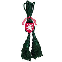 SH Scottish Great Highland Bagpipe Drone Cord Green Color Silk Bagpipes Cords