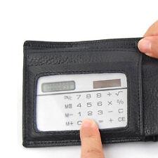 Small Slim Design Pocket Calculator Stationery Card Portable Calculator Silver