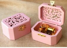 PINK WOODEN OCTAGON CARVING MUSIC BOX : SAILOR MOON MOONLIGHT DENSETSU