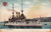 Postcard Ship USS Alabama