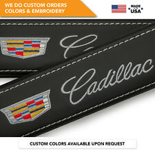 Seat Belt Covers Shoulder Strap Leather Pads Custom Made Fits Cadillac Gray 2PCS