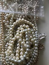 LOT Faux Pearl  Beads Jewelry Craft Findings Fashion Bridal  Repurpose DIY