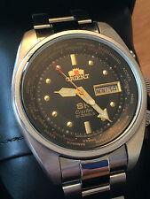 Orient SK World Timer 17 Jewel Calendar Watch  NEW ORIENT STRAP