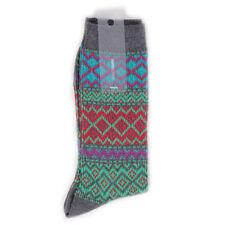 Yarn Works Jacquard Knit Socks Work #7 - Green