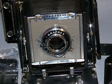 Burke & James, B&J Press Camera 4x5  w/135mm Raptar, extra lens, lots of parts