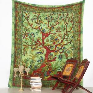 Twin Psychedelic Tree of Life Mandala Tapestry Cotton Home Decor Wall Hanging
