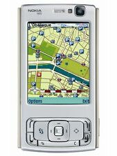 Nokia n95 SILVER-Black (Senza SIM-lock) Smartphone WIFI 3g 5mp Flash GPS Finland bene