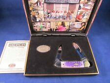 "Case 2005 ""Embellishing Module"" Canoe Knife Handles Mint In Display Case"