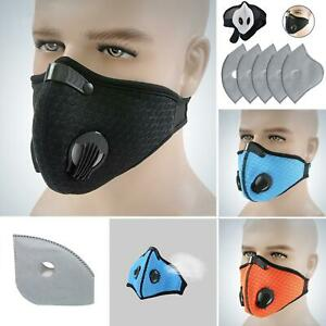NEW style Cycling Face  With Active Carbon Filter Breathing Valves Reusable